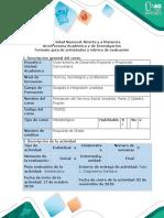 Guía act Fase 1. Diagnóstico Solidario