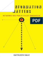 Kathleen Hale - How Information Matters_ Networks and Public Policy Innovation (Public Management and Change series)  -Georgetown University Press (2011)