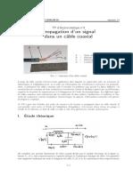 Propagation d'un signal dans un câble coaxial