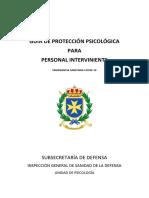 GUÍA PROTECCIÓN PSICOLÓGICA PARA PERSONAL INTERVINIENTE