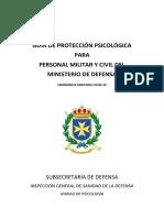 GUÍA PROTECCIÓN PSICOLÓGICA PARA PERSONAL MILITAR Y CIVIL DEL MINISDEF