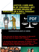 JUVENILE JUSTICE ( CARE AND PROTECTION OF CHILDREN ) ACT 2015