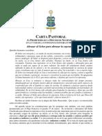 Carta Pastoral, 23 de Abril de 2020