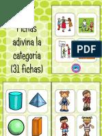 Fichas de adivinanza por categoría