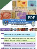 Tema I - Evolución y origen de las células