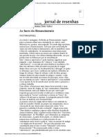 Folha de S.Paulo - Victor Knoll_ As faces do Renascimento - 08_05_1999