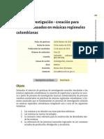4. Convocatoria Beca de investigación - creación para formatos basados en músicas regionales colombianas
