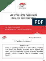 4. LAS LEYES COMO FUENTES DE DERECHO ADMINISTRATIVO