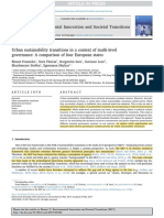 Ehnert et al. (2017) Urban sustainability transitions in a context of multi-level governance - A comparison of four European states