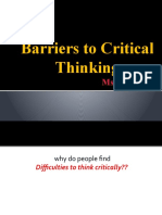 barriers to CT