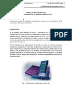 Manual de Instalacion y Uso de Kit FUNDAMENTOS DE TRANSDUCTORES LAB-VOLT