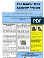 Gower Tree Sparrow Project Newsletter 2010