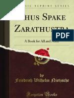 Thus Spake Zarathustra - 9781451004366
