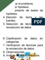 procedimiento. inves descriptiva