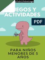 Actividades para niños y niñas menores de 5 años
