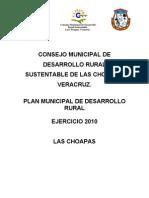 Plan de Desarrollo Rural Sustentable Las Choapas