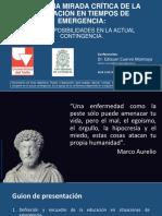 Conferencia Educación en Tiempos de Emergencia_Cuervo 2020