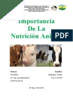 Importancia Nutrición Animal