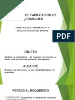 PROCESO DE FABRICACION DE ENGRANAJES DIEGO