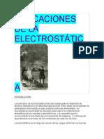 APLICACIONES DE LA ELECTROSTÁTICA