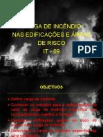 INSTRUÇÃO TECNICA 09 - CARGA DE INCÊNDIO .ppt