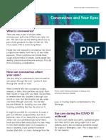 Coronavirus and Your Eyes