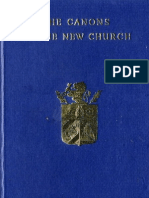 Swedenborg Emanuel THE CANONS of THE NEW CHURCH 1769 the Swedenborg Society London 1954