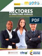 Descripción preliminar de niveles de desempeño Rectores ECDF