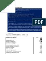 Ejemplo proyecciones 2 S2 - Finanzas Corporativas