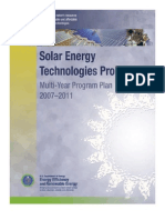 Solar Energy Technologies Program 2007-2011