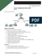 5.6.1 Configuracion Basica de RIP