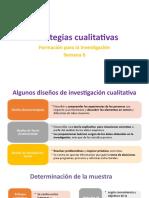 PPT.Semana 6. Estrategias cualitativas de investigación