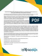 Carta Estudiantes Facultad de Ciencias Sociales