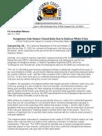 California Coast Crab Association press release