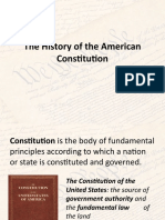 The History of the American Constitution