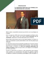IVNESTIGACION GOBIERNO DE JUAREZ Y ENSAYO SUFRAGIO EFECTIVO NO REELECCION