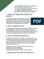 El Decreto de Urgencia Nº 038-2020 - SUSPENSIÓN PERFECTA