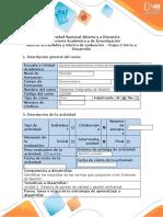 Guía de actividades y rúbrica de evaluación-Etapa 2 Inicio y Desarrollo