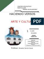 1ro. AUTOINSTRUCTIVO DE APRENDIZAJE arte y cultura Prof CERRÓN
