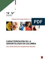 CARACTERIZACIÓN DE LA GERONTOLOGÍA EN COLOMBIA UNA MIRADA DESDE LAS COMPETENCIAS LABORALES