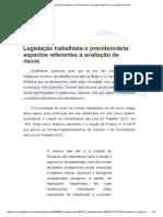 Legislação Trabalhista e Previdenciária_ Aspectos Referentes à Avaliação de Riscos