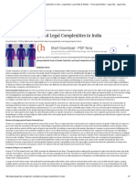 Gender Neutrality and Legal Complexities in India - Legal News _ Law News & Articles - Free Legal Helpline - Legal Tips _ Legal India