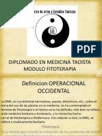 FITOTERAPÍA DIPLOMADO EN MEDICINA TAOISTA