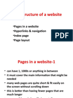 Size & Structure of a website