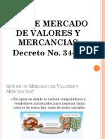LEY DE MERCADO DE VALORES Y MERCANCIAS