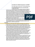 research argument outline for artificial sweeteners and adhd