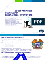 Uso Aceptable Trámites Banda Ancha Internet ETB v1.