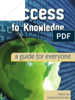 Access to Knowledge a Guide for Everyone