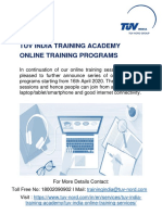 TUV_India_Online_Training_Program_With_Fees_and_Registration_Links