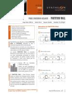 Ficha Técnica PW (Panel Divisorio)